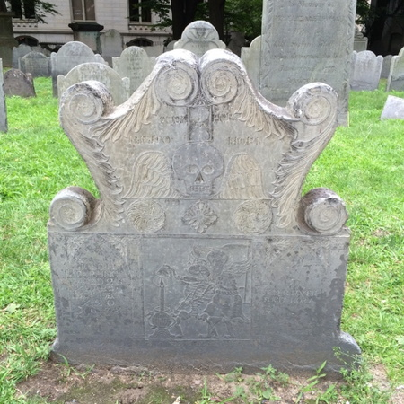 creepy grave stone from 1600's