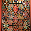 Psychedelic quilt from the 1800's