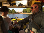 Our kids got to drive the Duck boat