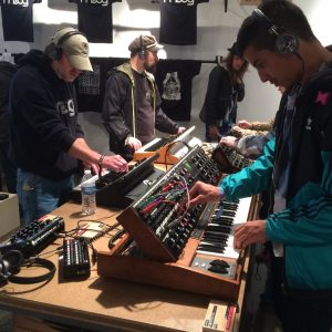 Moog shop keyboards