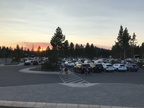 Sunset (forest fire?) at Canyon Village